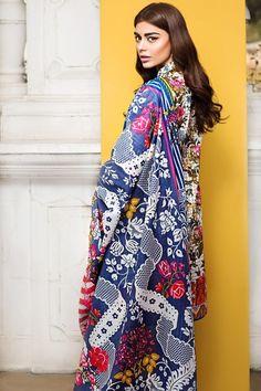 Khaadi 2 Piece Stitched Embroidered Lawn Suit - M17101-B - White - libasco.com    #khaadi #khaadionline #khadiclothes #khaadi2017 #kaadisummer