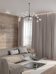 Interior on Maly Prospect / Contemporary minimalistic inte Luxury Living Room, Minimalist Apartment Decor, Luxury Living Room Design, Apartment Interior, Living Room Decor Apartment, Home Decor, Bedroom Decorating Tips, House Interior, Hall And Living Room