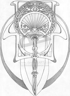 Art Deco Tattoo Designs | art nouveau design 1 by morindis on deviantart interior design