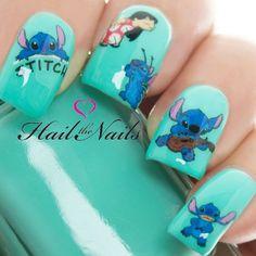 Lilo & Stitch Disney Nail Art Wraps Water Transfers Decals Y827 Salon Quality #nailart