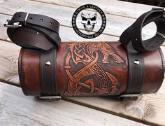Dyrvik's Leather - Saddle and leather crafts 2019 Leather Carving, Leather Tooling, Tooled Leather, Motorcycle Seats, Bike Seat, Harley Davidson, Bobber Style, Tool Roll, Bike Accessories