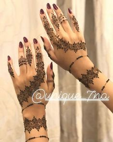 Likes, 23 Kommentare - Inst Daily Henna Inspiration Inst ( . Modern Henna Designs, Floral Henna Designs, Finger Henna Designs, Arabic Henna Designs, Latest Mehndi Designs, Mehandi Designs, Wedding Mehndi Designs, Henna Tattoo Designs, Mehendi