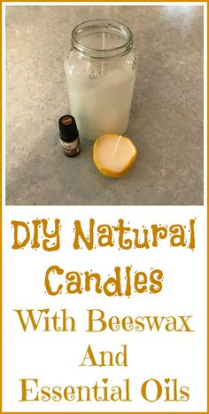 How to make all natural candle with beeswax and your choice of essential oils.