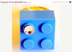 ON SALE Light Blue LEGO R brick 2x2 with a by MademoiselleAlma, $9.79
