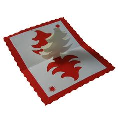 This could work with reindeers etc in the centre of christmas cards. Position the die cut above the fold and cut through 2 layers, then cut a tab to the bottom or position it so the die base is over the fold so it stays interconnected when you open it up.