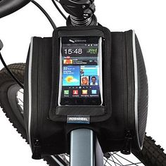 Bike+Bag+1.8LBike+Frame+Bag+Cell+Phone+Bag+Dust+Proof+Touch+Screen+Bicycle+Bag+PU+Leather+Polyester+PVC+Cycle+BagSamsung+Galaxy+S4+Iphone+–+USD+$+12.99