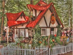 Izzy's house - red roof