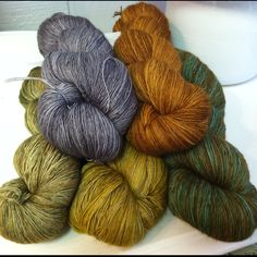 Madelinetosh Prairie. This makes me long for fall weather and changing leaves.