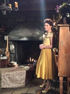 Emilie De Ravin as Belle French, behind the scenes of Once Upon a Time Once Upon A Time, Eion Bailey, Rumple And Belle, Ouat Characters, Belle French, Meghan Ory, Ouat Cast, Emilie De Ravin, Josh Dallas