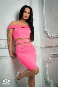 Mexton Interesting Woman Pink Dress