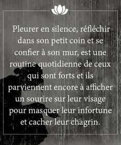 Discover recipes, home ideas, style inspiration and other ideas to try. Sad Quotes, Best Quotes, Love Quotes, Inspirational Quotes, French Quotes, Bad Mood, Positive Attitude, Positive Affirmations, Decir No
