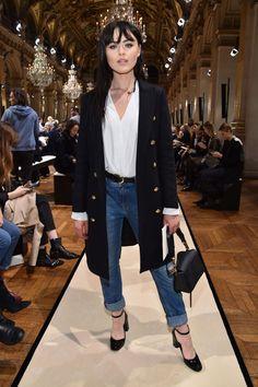 Kristina Bazan #jeans #turnup - The Lanvin show #pfw