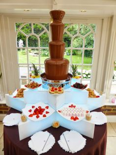 Chocolate fountain!