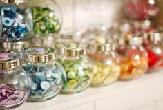 Little jars from Ikea - perfect for buttons