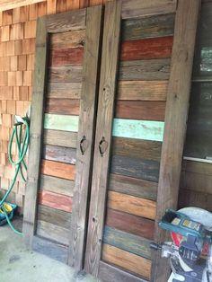 Best Rustic Barn Wood Decor Ideas for Home Accents Barn Door Pantry, Wall Pantry, Pantry Sign, Making Barn Doors, Barn Wood Decor, The Doors, Sliding Doors, Entry Doors, Patio Doors