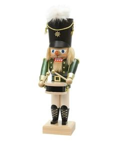 Love this 12'' Green Drummer Nutcracker on #zulily! #zulilyfinds