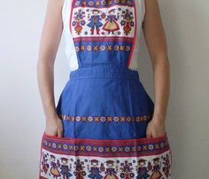 Folk Apron with Pockets  by Smile Mercantile
