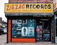 Zig Zag Records in Brooklyn  From Store Front: The Disappearing Face of New York (2008) by James T. & Karla L. Murray