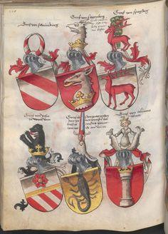 Grünenberg, Konrad: Das Wappenbuch Conrads von Grünenberg, Ritters und Bürgers zu Constanz um 1480 Cgm 145 Folio 163