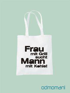 """Stoffbeutel - """"GRILL"""" - Stofftasche - ein Designerstück von odmomani bei DaWanda"""