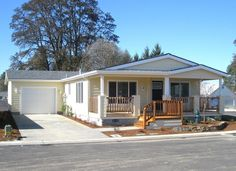 Double wide mobile home with gable porch. (uploaded image) #porch #mobilehome