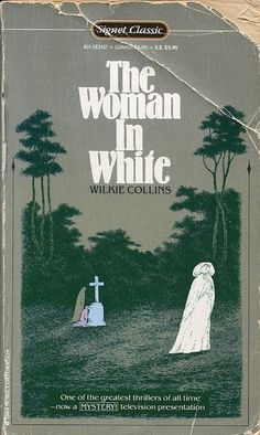 ✓ The Woman in White by Wilkie Collins; cover by Edward Gorey Up Book, Book Art, Book Cover Design, Book Design, Edward Gorey Books, The Woman In White, Vintage Book Covers, Beautiful Book Covers, Roman