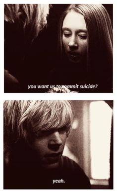 You want us to commit suicide? Yeah. 'Like Romeo and Juliet' {Tate Langdon and Violet Harmon}
