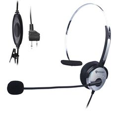FYL D-Shape Earpiece//Headset Boom Mic For Kenwood Radio Walkie Talkie Hand Free VOX