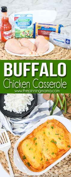 Low Carb Meals Buffalo Chicken Casserole Recipe - This Buffalo Chicken Casserole is the perfect dish to make for an easy dinner. The chicken is tender and nestled in a delicious creamy sauce with the perfect amount of zing from the buffalo sauce. Slow Cooker Recipes, Low Carb Recipes, Cooking Recipes, Healthy Recipes, Crockpot Recipes, Soup Recipes, Recipies, Buffalo Chicken Casserole, Buffalo Chicken Recipes