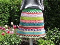 Miniröcke - Bunter Baumwoll Strickrock Malia Gr. M - ein Designerstück von Lotta_888 bei DaWanda