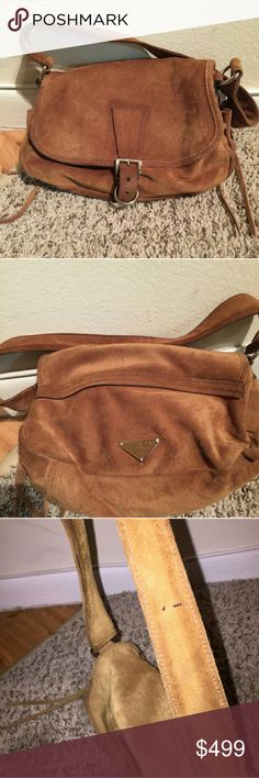 Gorgeous suede prada bag See strap for stajn but overall bag great condition Prada Bags Shoulder Bags