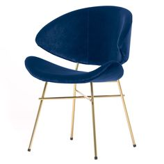 Bar Chairs, Dining Room Chairs, Desk Chairs, Blue Velvet Dining Chairs, Velour Fabric, Cozy Place, Take A Seat, Great Rooms, Interior Inspiration