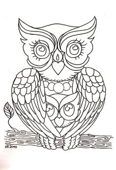 embroidery with beads patterns OF OWLS - Google Search