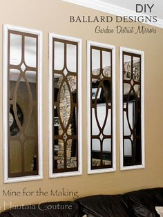 Gorgeous DIY Ballard Designs Garden District Mirrors tutorial by Hautala Couture at Mine for the Making!
