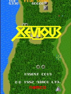 Xevious, a vertically scrolling arcade shooter with great graphics for the year 1982.