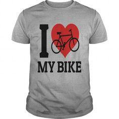 I love my bike Hoodies