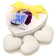 cool Konjac Sponge (3 Pack) - Natural Baby Bath Sponges for Babies and Sensitive Skin - Non-toxic & Safe