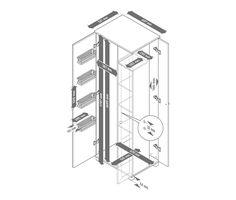 249,00 € Der Schrank mit Türen in dekorativer Rahmenoptik ist optimal geeignet zur Aufbewahrung von Putzutensilien.