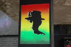 Part of Bristol's See No Evil street art display.