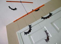 Bat Mobile Craft: Halloween Crafts and Decorations for Kids - Kaboose.com