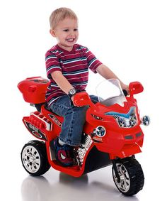 Take a look at this Red FX 3 Motorcycle Ride-On on zulily today! This is just way too cool! Lucas' first motorcycle just like daddy's.