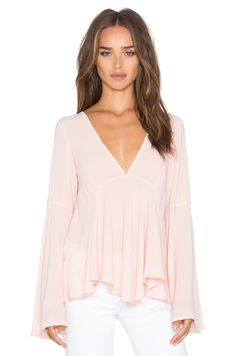 Lucy Paris Bell Sleeve Top in Blush                                                                                                                                                                                 More
