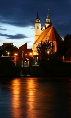 St. Johannis Kirche in Magdeburg on the River Elbe, Germany