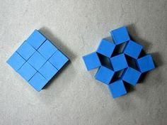 Origami Instructions: Wobbling Wall of Nine Cubes (Heinz Strobl)