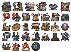 .pixel Game Design, Icon Design, Solid Games, Pixel Characters, Pixel Art Games, Rpg Maker, Mechanical Design, Game Assets, Game Ui