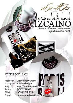 Outfits de Vizcaino, Formas de llevar la Joyería del Zar. Propuestas Versátiles para la mujer que va en busca de lo diferente. https://www.facebook.com/vizcainodesigns