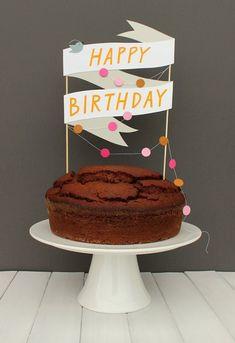 Paper cake topper,bolo para o Paulo Happy Birthday Cakes, Birthday Cake Toppers, Cupcake Toppers, Cupcake Cakes, Birthday Parties, Cake Birthday, 16 Cake, Candy Cakes, Cake Fondant