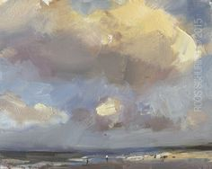 Seascape Swift Shades and Light Effects Afternoon Cloud Painting by Roos Schuring