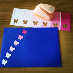 Trip to DIY store gave me new envelope decorating ideas!