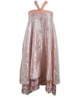 Reversible Silk Sari Wrap Skirt by indiatrendzs